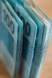 Dinheiro brasileiro, reais, altamente nominais Fotografia de Stock Royalty Free