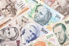 Dinheiro brasileiro velho Imagens de Stock