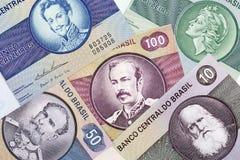 Dinheiro brasileiro velho Imagem de Stock Royalty Free