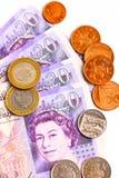 Dinheiro britânico Fotografia de Stock