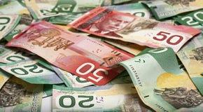 Dinheiro canadense Fotografia de Stock