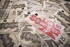 Dinheiro canadense   Foto de Stock