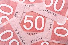 Dinheiro canadense imagens de stock