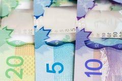 Dinheiro canadense fotografia de stock royalty free
