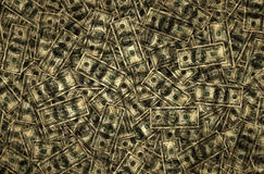 Dinheiro - centenas e fundo dos anos 50 Fotografia de Stock
