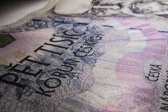 Dinheiro checo Imagens de Stock