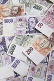 Dinheiro checo fotografia de stock