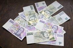 Dinheiro checo, coroas checas Foto de Stock
