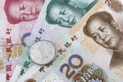 Dinheiro chinês (RMB) Imagens de Stock Royalty Free