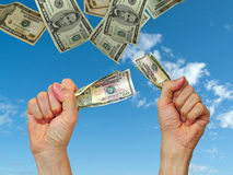 Dinheiro - começ o! Fotos de Stock Royalty Free