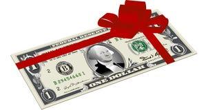 Dinheiro como um presente Imagem de Stock Royalty Free