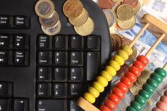 Dinheiro-contador Foto de Stock