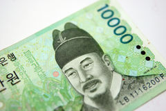 Dinheiro coreano Fotos de Stock Royalty Free