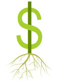 Dinheiro crescente Foto de Stock
