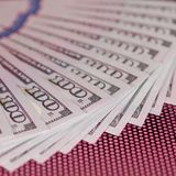 Dinheiro 100 dólares de fundo Imagens de Stock Royalty Free