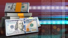 dinheiro 3d Foto de Stock Royalty Free