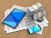 dinheiro 3d Imagem de Stock