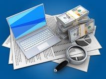 dinheiro 3d Imagens de Stock