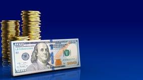 dinheiro 3d Foto de Stock