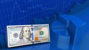 dinheiro 3d Fotos de Stock