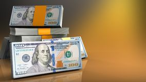 dinheiro 3d Fotografia de Stock