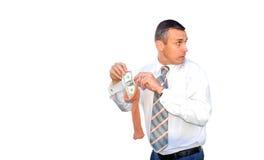 Dinheiro da açambarcamento Foto de Stock