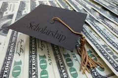 Dinheiro da bolsa de estudos Fotografia de Stock Royalty Free