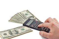 Dinheiro da contagem Imagem de Stock Royalty Free