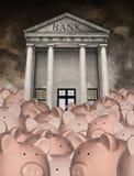 Dinheiro da economia, aposentadoria, operação bancária, investindo Imagens de Stock Royalty Free