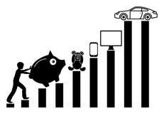Dinheiro da economia da criança Imagens de Stock
