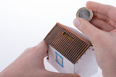 Dinheiro da economia no moneybox Imagens de Stock