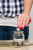 Dinheiro da economia para férias de verão Foto de Stock Royalty Free