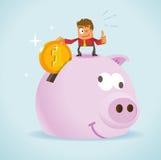 Dinheiro da economia para o futuro Fotografia de Stock