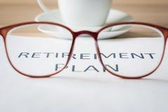 Dinheiro da economia para o plano de aposentação Foto de Stock Royalty Free