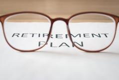 Dinheiro da economia para o plano de aposentação Imagem de Stock
