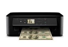 Dinheiro da impressão Fotografia de Stock