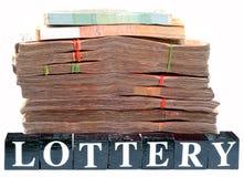 Dinheiro da lotaria Fotografia de Stock Royalty Free