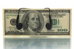 Dinheiro da música Imagens de Stock