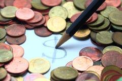 dinheiro da moeda do dólar do dinheiro de Tailândia fotos de stock