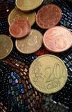Dinheiro da moeda do Euro Imagem de Stock Royalty Free