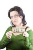 Dinheiro da mulher Fotos de Stock