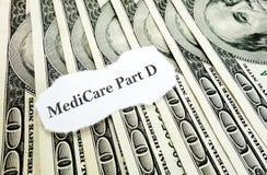 Dinheiro da parte D de Medicare Imagens de Stock Royalty Free