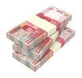 Dinheiro da rupia indonésia isolado no fundo branco Fotos de Stock Royalty Free