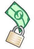 Dinheiro da segurança Fotografia de Stock Royalty Free
