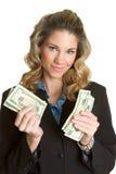 Dinheiro da terra arrendada da pessoa Imagens de Stock Royalty Free