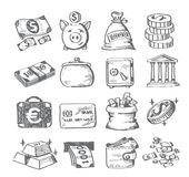 Dinheiro da tração da mão ilustração royalty free