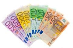 Dinheiro da União Europeia. Euro- moeda Fotografia de Stock Royalty Free