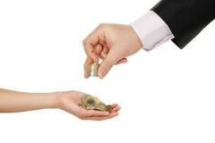 Dinheiro de bolso Imagens de Stock