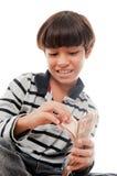 Dinheiro de Couting Imagens de Stock Royalty Free