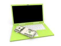 Dinheiro de Digitas Fotografia de Stock